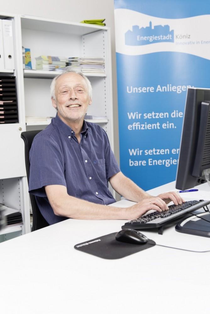Hans-Peter Schmutz, bis 2016 Leiter der Fachstelle Energie von Köniz, schätzt die Zusammenarbeit mit der öffentlichen Energieberatung Bern-Mittelland.