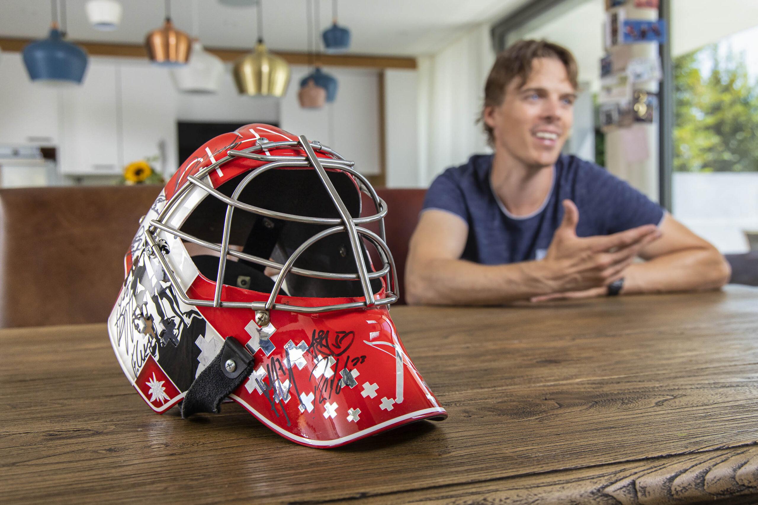 Nach einer grossen Eishockey-Karriere ist Jonas Hiller in der Region Bern heimisch geworden.