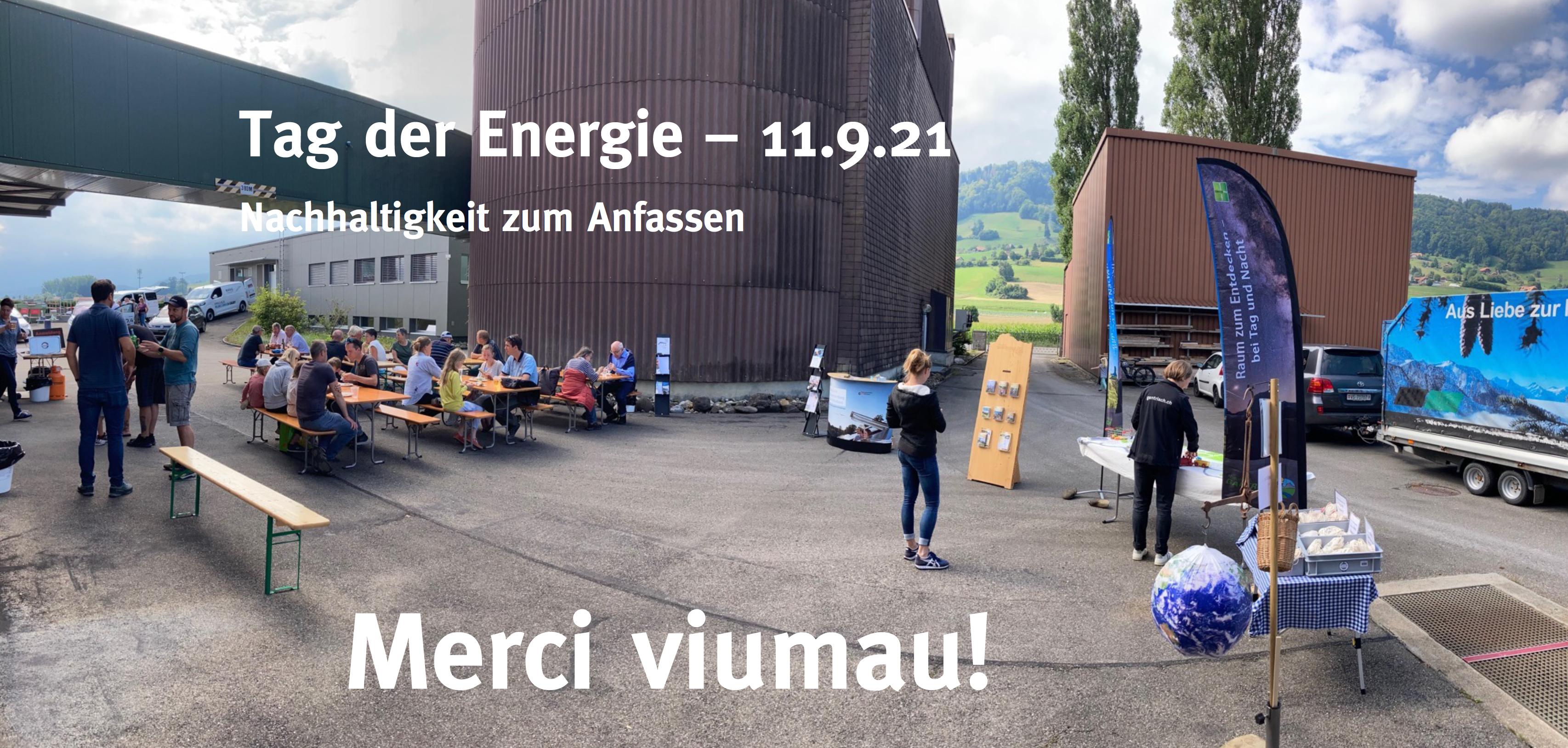 Dankbare Veranstalter nach dem erfolgreichen Tag der Energie.